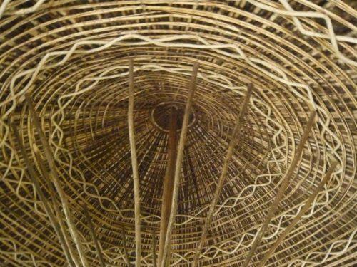 Toit d'une hutte locale, Éthiopie du Sud