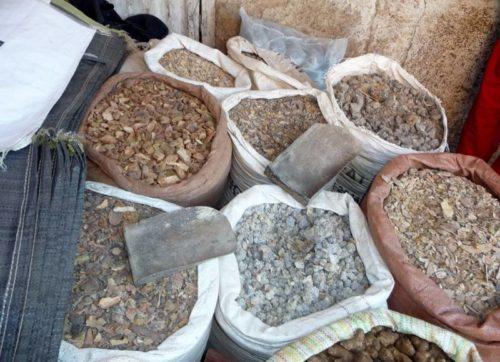Encens sur un marché local éthiopien