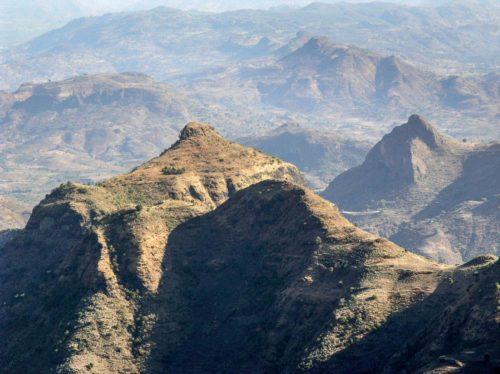 Paysage des monts Simien, Éthiopie du Nord