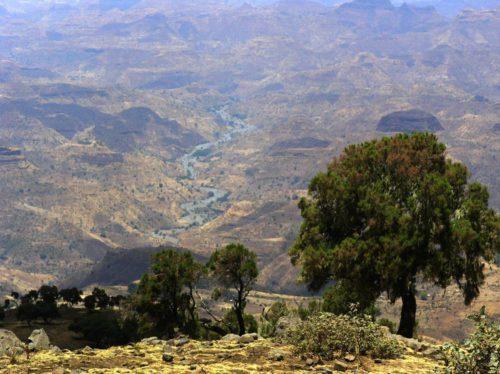 Panorama des monts Simien, Ethiopie