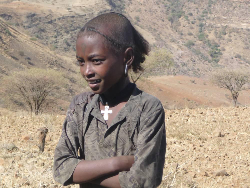 Jeune fille éthiopienne