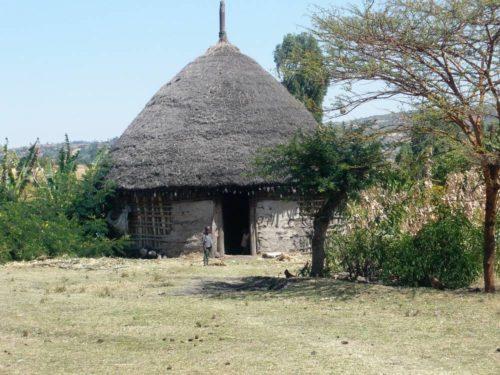 Maison locale dans le sud de l'Ethiopie