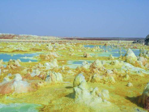 Volcan Dallol, dépression du Danakil, Éthiopie