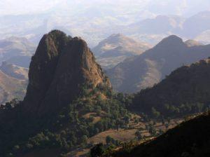 Panorama des monts du Simien, nord de l'Ethiopie
