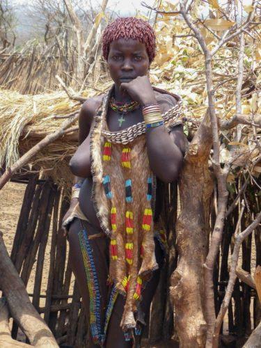 Femme de la tribu Hamer, vallée de l'Omo, Éthiopie