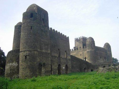 Vue extérieure de la cité impériale de Gondar, Camelot de l'Afrique, Ethiopie