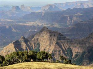Paysage des monts du Simien, nord de l'Ethiopie